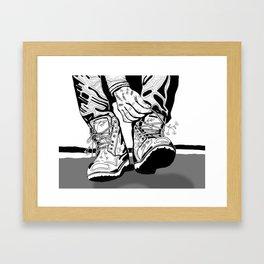 laces Framed Art Print