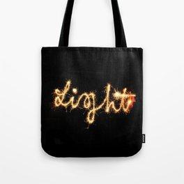 Sparkel Typography | Light Tote Bag