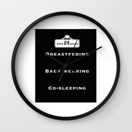 Breastfeeding, baby wearing and co-sleeping Wall Clock