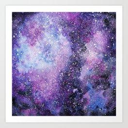 Space. Watercolor Art Print