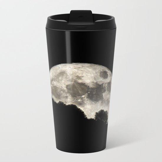 Super Moon sunrise through the trees. 14-11-2016 Metal Travel Mug