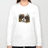 puppy Long Sleeve T-shirts featuring Puppy by Adamzworld