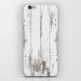 White Wood iPhone Skin