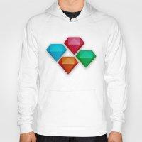 diamonds Hoodies featuring Diamonds by Andrew Leif Hanssen
