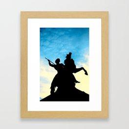 Sunset Warrior  Framed Art Print