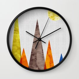 Minimalist landscape watercolor V Wall Clock