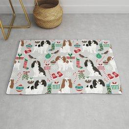 Cavalier King Charles Spaniel christmas pattern gift for dog lover pet friendly pet portrait Rug