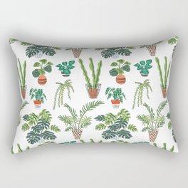 flowerpots pattern Rectangular Pillow