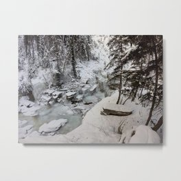 Entrance to Maligne Canyon Icewalk, Jasper National Park Metal Print