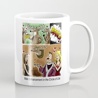 antler Mugs featuring Antler Extenze by 13TH Floor Comic