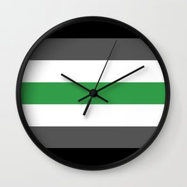 Agender Flag Wall Clock