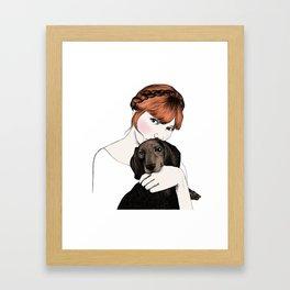 Emily and Arthur Miller Framed Art Print