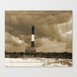 Fire Island Light In Sepia Canvas Print