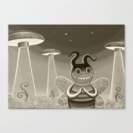 bee movie noir Canvas Print