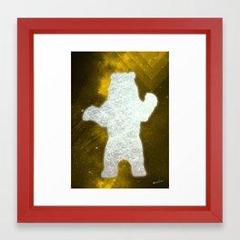 Space Bear Framed Art Print