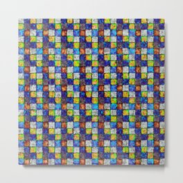 Multicolored Patchwork Metal Print