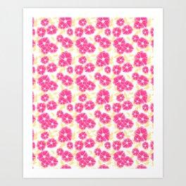 12 Sketched Mini Flowers Art Print