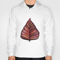 decal Hoodies featuring Modern leaf art | green leaves wall decal | botanical leaf decor | botanical leaves | leaf & plant by WestridgeART