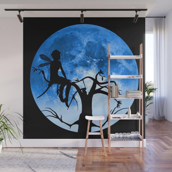 Moonlight Wondering Fairy Wall Mural by maryedenoa Society6