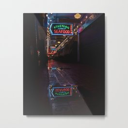 Pike Place Market After Hours Metal Print
