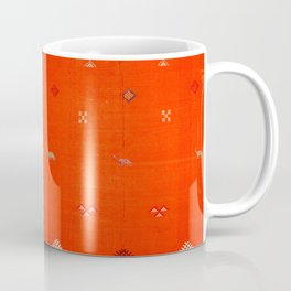(N6) Vintage Orange Anthropologie Moroccan Artwork. Coffee Mug