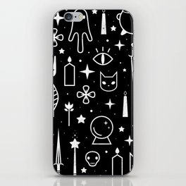 Spirit Symbols Black iPhone Skin