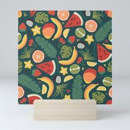 Summer Fruit Vibes Mini Art Print