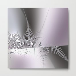 Gentle ice crystals like fern -- Fractal abstract Metal Print