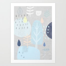 Collage Trees Art Print
