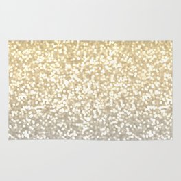 Gold and Silver Glitter Ombre Rug
