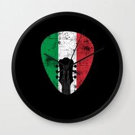 Italy Flag Guitar Plectrum Wall Clock
