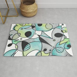 Abstract Critters Rug