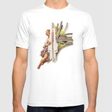 Sparklette | Collage White MEDIUM Mens Fitted Tee