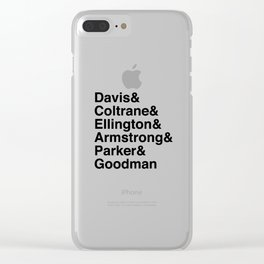 Helvetica Jazz Clear iPhone Case
