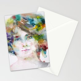 MAUD GONNE - watercolor portrait Stationery Cards