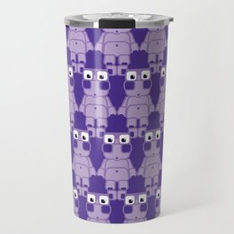 Super cute cartoon purple pig - bring home the bacon with everything for the pig enthusiasts! Travel Mug