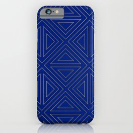 Angled Blue & Gold iPhone Case