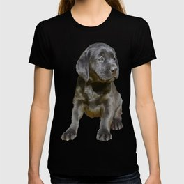 Adorable and Cute Black Labrador Puppy Vector T-shirt