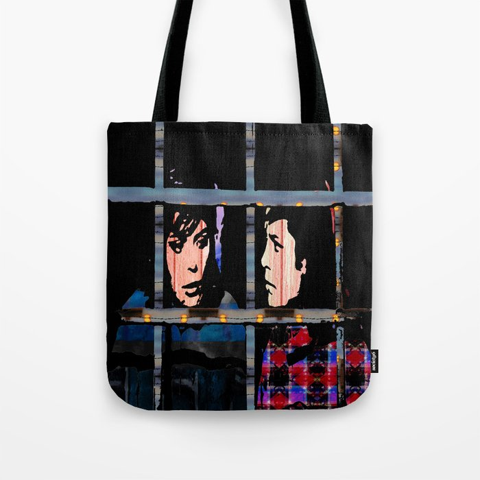 We See The Stars From Behind These Bars Tote Bag