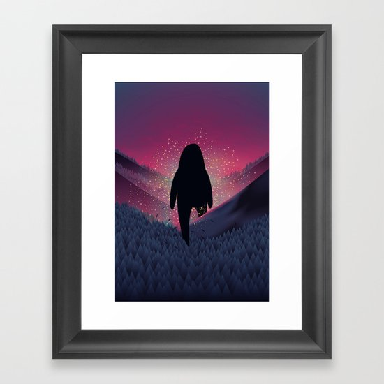 Never Look Back Framed Art Print