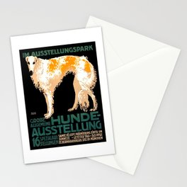Vintage German Dog Show Advertising Poster Stationery Cards