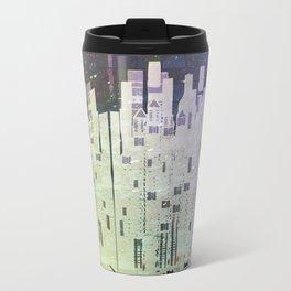 On The Spatial Grid Metal Travel Mug