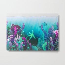 Deep Down In The Water Metal Print