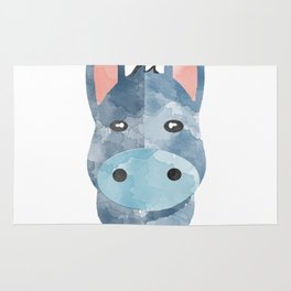 Water Colour Baby Donkey Rug