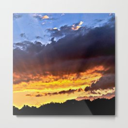 Magic September Sunset over Berlin Metal Print