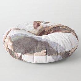 The Creation Of Adam Floor Pillow