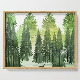 Green Forest Serving Tray