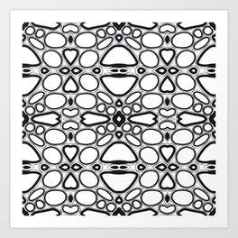 fancy grid Art Print