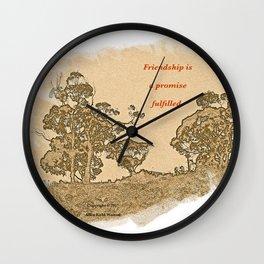 """Trees Of Catalina #2""/Simple Friendship Wall Clock"