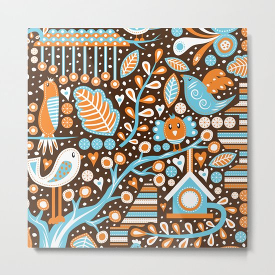 Bird Patterns Metal Print